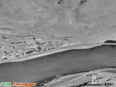 Wishram satellite photo by USGS