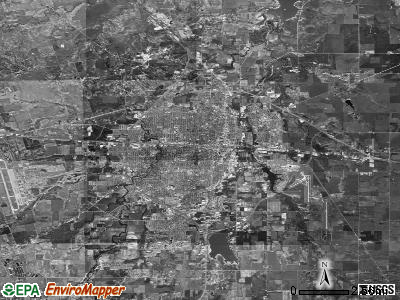 Abilene satellite photo by USGS