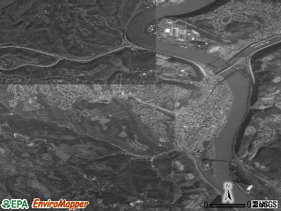 Steubenville satellite photo by USGS