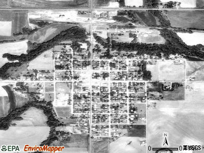 Lenora satellite photo by USGS