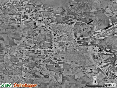 Beaumont satellite photo by USGS