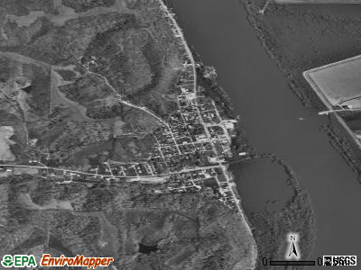 Kampsville satellite photo by USGS