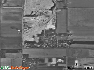 Clay Center satellite photo by USGS