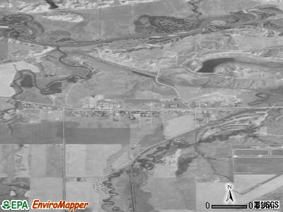 Beaver Creek satellite photo by USGS