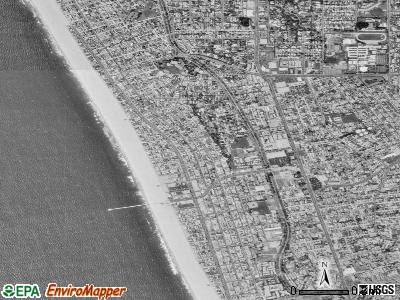Hermosa Beach satellite photo by USGS