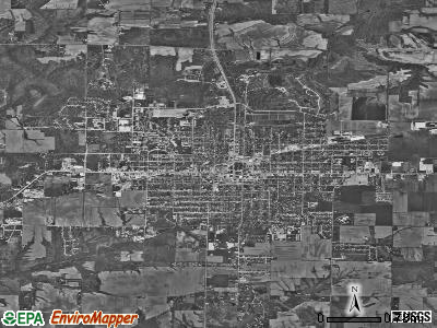 Macomb satellite photo by USGS