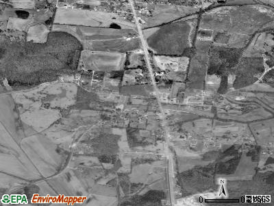 Clarksburg satellite photo by USGS