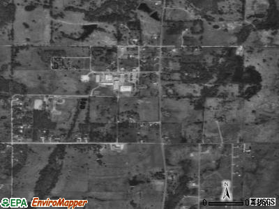 Silo satellite photo by USGS