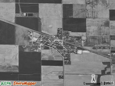 Addieville satellite photo by USGS