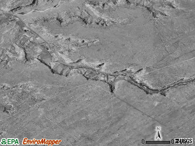Keams Canyon satellite photo by USGS
