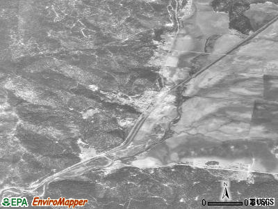 Crescent Mills satellite photo by USGS