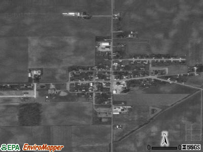 Osgood satellite photo by USGS