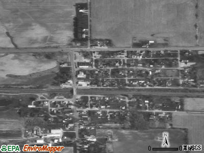 Corunna satellite photo by USGS
