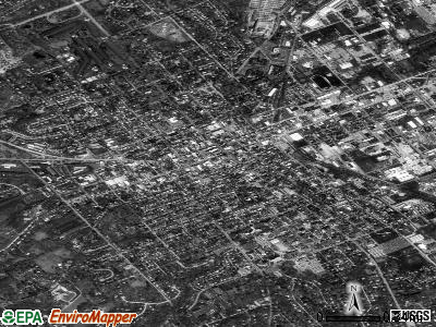 West Chester satellite photo by USGS