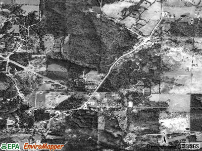 Pineville satellite photo by USGS