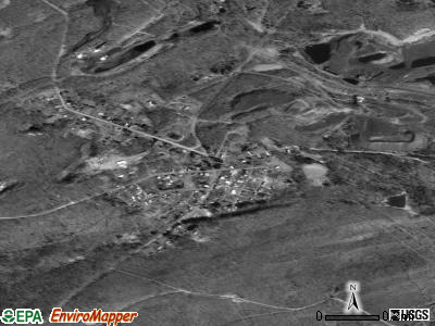 Newtown satellite photo by USGS