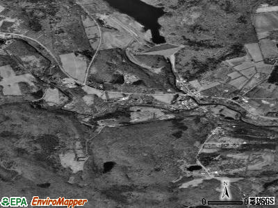 Prompton satellite photo by USGS
