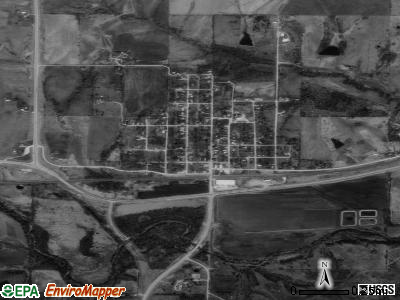 Lucas satellite photo by USGS