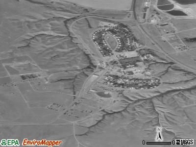 Fort Peck satellite photo by USGS
