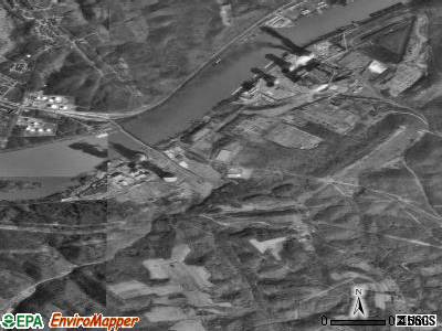 Shippingport satellite photo by USGS