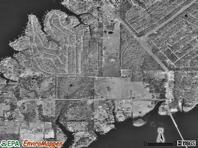 Caney City satellite photo by USGS