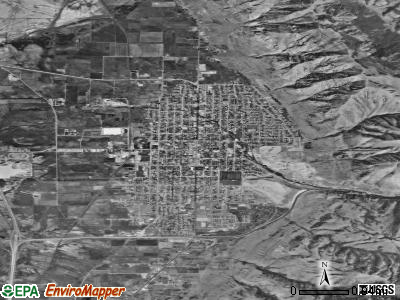 Brigham City satellite photo by USGS