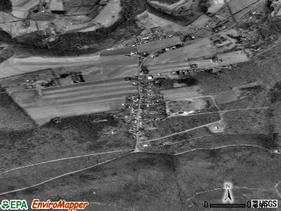 Brandonville satellite photo by USGS