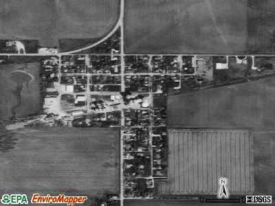 Cooksville satellite photo by USGS