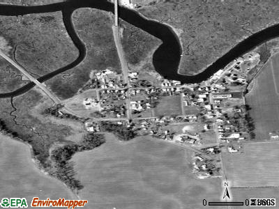 Leipsic satellite photo by USGS