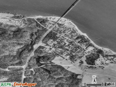 Yorktown satellite photo by USGS