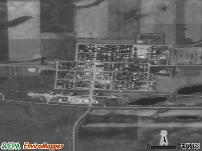 Grenora satellite photo by USGS