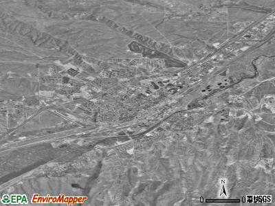 Elko satellite photo by USGS