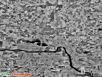 Elk River satellite photo by USGS