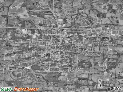 Warrensburg satellite photo by USGS