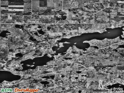 Prior Lake satellite photo by USGS