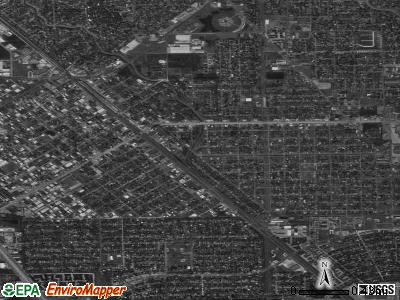 South Houston satellite photo by USGS