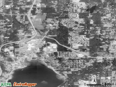 Silverdale satellite photo by USGS