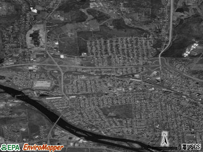 Johnson City satellite photo by USGS