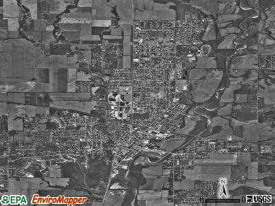 Connersville satellite photo by USGS