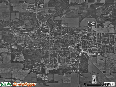 Crawfordsville satellite photo by USGS