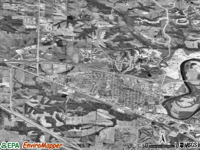 Coralville satellite photo by USGS