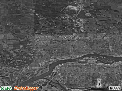 Davenport satellite photo by USGS