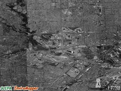 Dearborn satellite photo by USGS