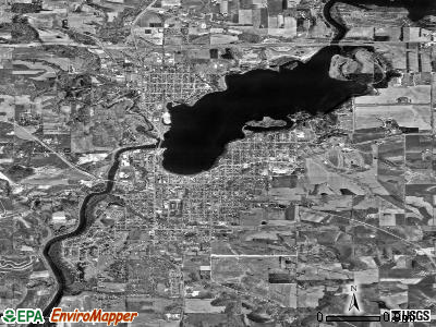 Menomonie satellite photo by USGS