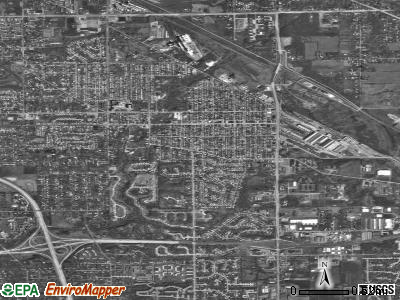 Beech Grove satellite photo by USGS