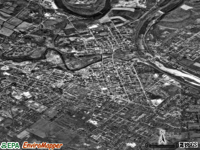 Phoenixville satellite photo by USGS