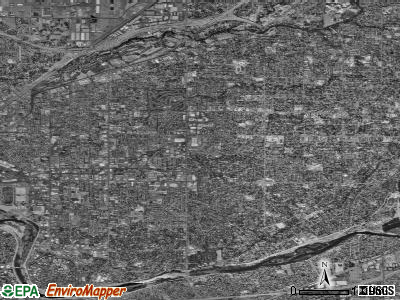 Arden-Arcade satellite photo by USGS