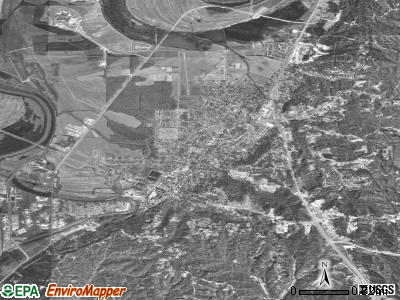 Yazoo City satellite photo by USGS