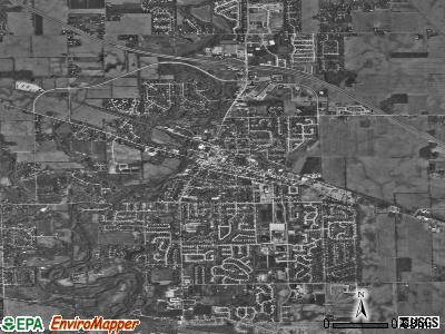 Brownsburg satellite photo by USGS