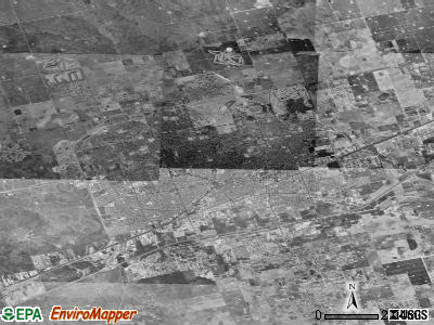 Midland satellite photo by USGS
